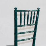 結婚式およびイベントのための純木のChiavariの深緑色の椅子