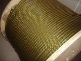 직류 전기를 통한 철강선 밧줄 6*31ws+FC