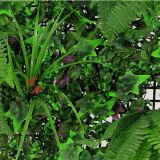 고품질 인공적인 녹색 잔디 정원 벽 담