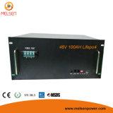 батарея хранения LiFePO4 48V 100ah солнечная