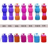 Бутылка воды BPA спортов напольного силикона складывая свободно