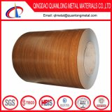 A impressão de cor de madeira do teste padrão Prepainted a bobina de aço