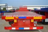 3 Rode Gooseneck van Assen Fuwa Flatbed Semi Aanhangwagen met VoorRaad