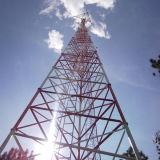 Torre galvanizada tubular equipada com pernas de três Telecommmunication