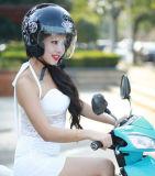 Capacete Flowery da motocicleta da face do ECE meio com Bluetooth (OP218)