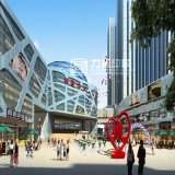 Wanjiの商業複雑な見通しのレンダリングのプロジェクト