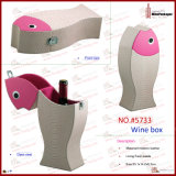 Коробка бутылки вина кожи формы рыб (5733)