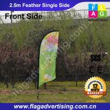 Bandierina di pubblicità su ordinazione di volo della spiaggia della riserva dello specchio, bandierina della piuma