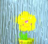 Превосходный OEM качества идет дождь вниз стекло картины для мебели