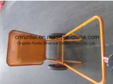 構築の金属の皿の鉄骨フレームの一輪車