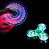 스위치 방적공 싱숭생숭함 번쩍이기를 가진 밤에 있는 LED 빛