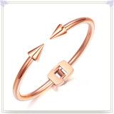 方法ブレスレットの方法宝石類のステンレス鋼の腕輪(BR1028)
