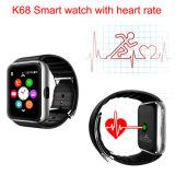 Monitor del ritmo del corazón del reloj inteligente para Android y el IOS (K68H)
