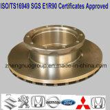 Discos de freio de caminhão com certificado TS16949 e Certificado SGS