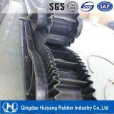 Bande de conveyeur ondulée en nylon de flanc