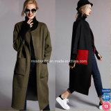 Пальто классицистических шерстей кашемира зимы повелительниц длиннее, пальто зимы женщины способа