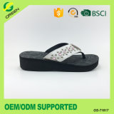 PU Superior com strass Flip Flop Leisure Shoes para Lady