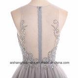 Tulle a - линия безрукавный шнурок шеи ветроуловителя отбортовала платье выпускного вечера