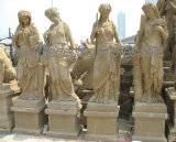 ينحت أثر قديم حديقة حجارة تمثال مع أربعة فصل نحت ([س-إكس1703])