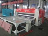 Flexo 1-4 Farben-Wasser-Tintendrucken, das stempelschneidene und stapelnde Maschine kerbt