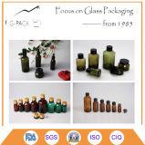 Frei, bernsteinfarbig, grün, Blau und andere Farbanstrich-Farben-Glasöl-Flasche