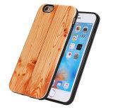 رفاهية خشبيّة حبّة أسلوب [تبو] ليّنة خلفيّة تغطية هاتف حالة لأنّ [سمسونغ] [إيفون]