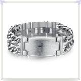De Armband van het Roestvrij staal van de Armband van identiteitskaart van de Juwelen van de minnaar (HR346)
