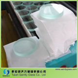 8mm / 10mm / 12mm Round Tempered Clear Float Safety Sight Glass for Furnace