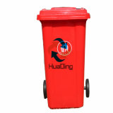 Plastiksortierfach-Gummirad-Abfalleimer des abfall-120L für im FreienHD2wnp120b-R