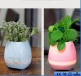 Vaso di musica dell'altoparlante di Bluetooth del fiore di musica con gli indicatori luminosi di colore LED di Muitl
