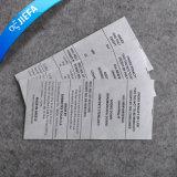 Étiquette de soin faite sur commande de lavage d'impression de vêtement d'approvisionnement d'usine