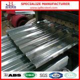 El panel acanalado revestido sumergido caliente del material para techos del metal del cinc Z100