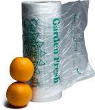Saco de rolo plástico transparente da fruta e verdura do HDPE