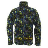 Hommes à manches longues imprimé Micro Fleece Sports Leisure Jacket