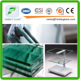 광택이 있는 가장자리를 가진 3-19mm 강화 유리 또는 Tempered 문 유리 또는 Tempered 위원회 또는 안전 유리 또는 단단하게 한 유리