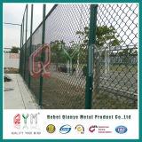 Cerca de cadena revestida de la conexión de cadena del acoplamiento de la cerca del acoplamiento del PVC/de alambre del diamante
