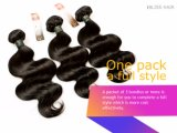 Brasilianische Jungfrau-Haar-Karosserien-Wellen-Schwarz-Farbe 18 Zoll-Menschenhaar-Webart