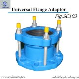 Adaptador universal da flange da escala larga do ferro Ductile para as tubulações do PE