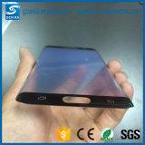독점적인 나노미터 실크 인쇄 Samsung 은하 S7 가장자리를 위한 반대로 파란 가벼운 강화 유리 스크린 프로텍터