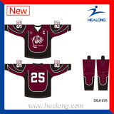 Healong modificó jerseys por completo sublimados del hockey sobre hielo para requisitos particulares
