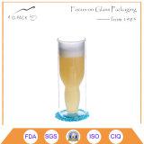 Tazza inversa di vetro di birra della parete di Doubel