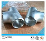 Te de las guarniciones del tubo sin soldadura del acero inoxidable de la autógena de tope 347H