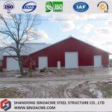 Prefab светлый пакгауз стальной структуры для животного земледелия