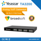 4/8/16/24/32 FXSはゲートウェイのSIPによってサポートされるVoIPのアナログのゲートウェイを移植する