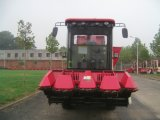 Maquinaria do Reaper do milho doce com o tanque grande da grão
