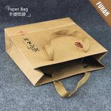 Одежды способа подгоняли мешок Kraft логоса бумажный
