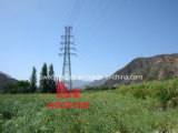 110kv Three Circuit Overhead Tension Transmission Steel Tower