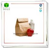 Brown Papel Kraft almuerzo de saco, bolsa de reciclado
