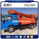 Plate-forme de forage portative montée par camion hydraulique de puits d'eau à vendre 200m