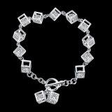 Vendita calda di stile occidentale un braccialetto d'acciaio Tridimensional dai 925 Sterling e Zircon all'interno